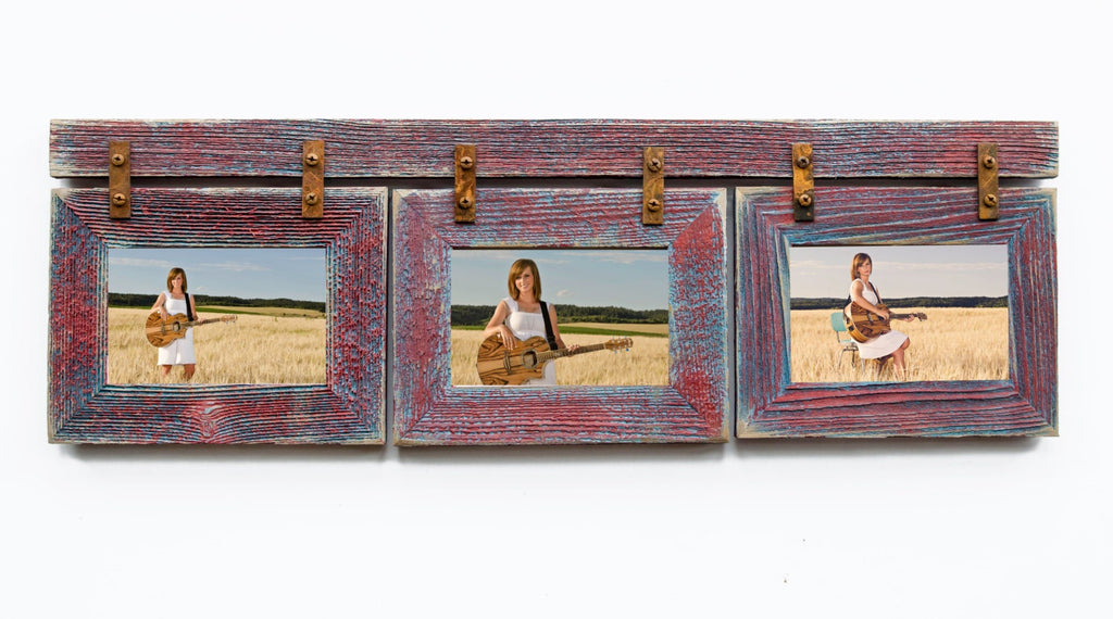 3 Hole 8x10 Multi Opening Collage Picture Frame Rustymilldecor