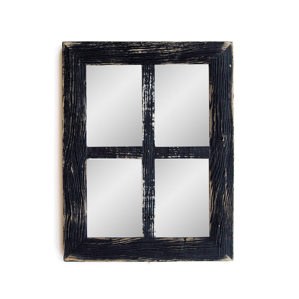 Farmhouse Wall Decor Window Mirror-Rustic Window Mirror- Rustic Mirror- Large Window Mirror-Window Pane Mirror- Arch Window Mirror