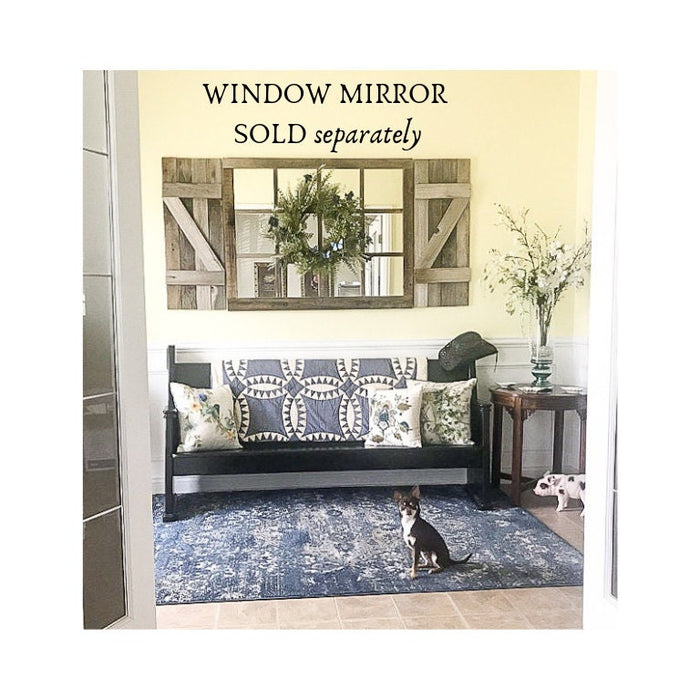 "14""x36"" Shutters for the 46x36"" Window Pane mirror -  SHUTTERS ONLY - Listing is for Shutters ONLY - Window Mirror sold separately"