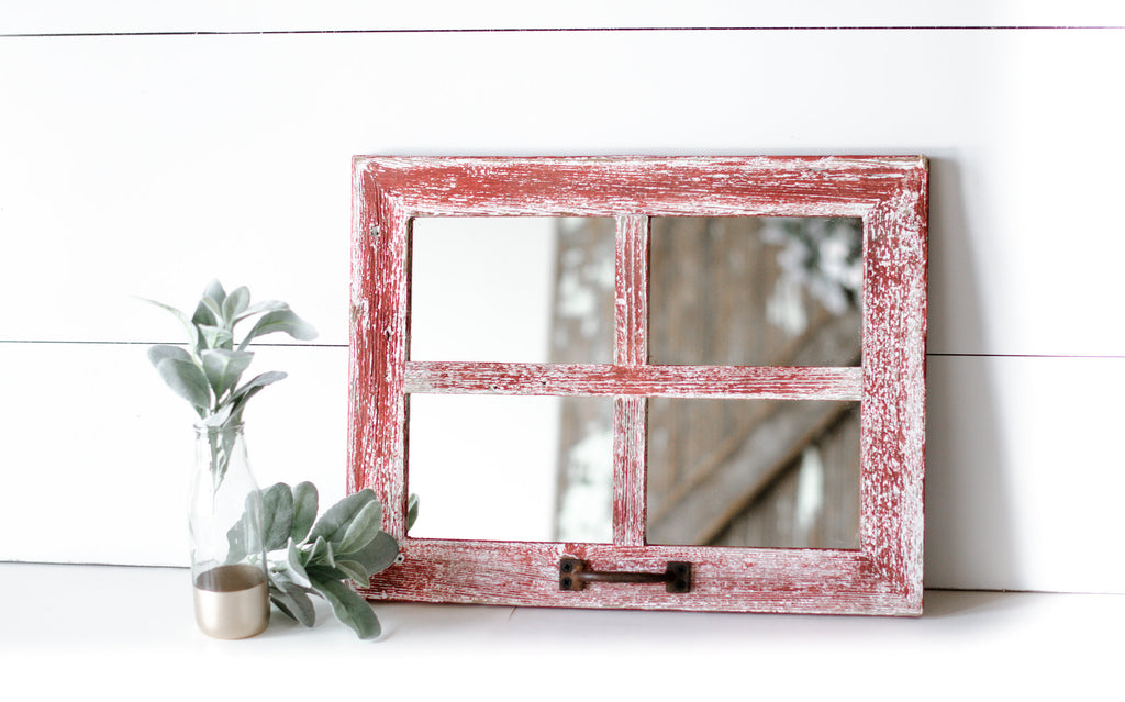 Farmhouse Wall Decor, Window Mirror, Rustic Window Mirror, Rustic Mirror, Window Pane Mirror, Mirror Wall Decor, Mirror Bathroom,Mirror Wall