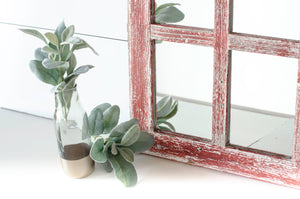 Rustic Window Mirror