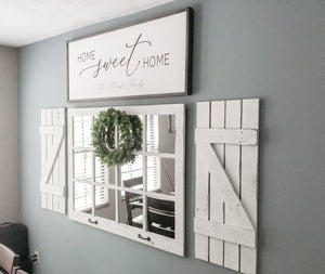 Large Window Mirror Wall Decor