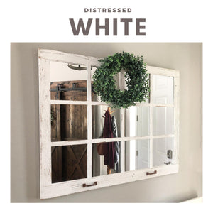 "46""x 36"" Farmhouse Wall Decor Window Mirror"
