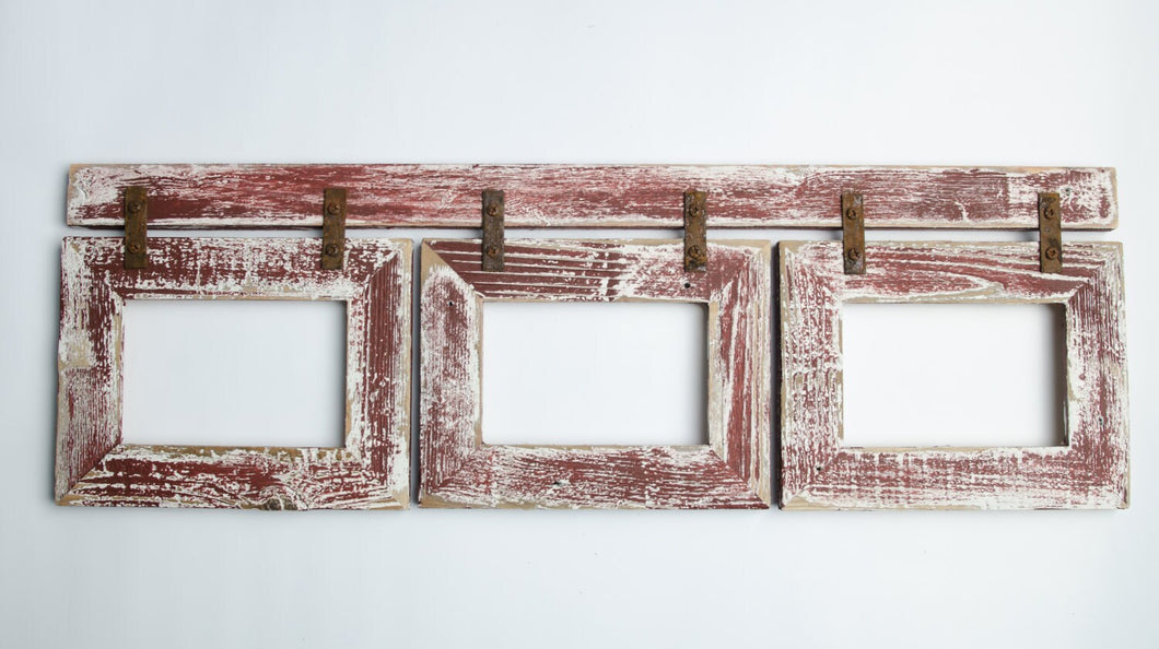 Barnwood Collage Home Decor Frame 3) 5x7 Multi Opening Frame-Rustic ...