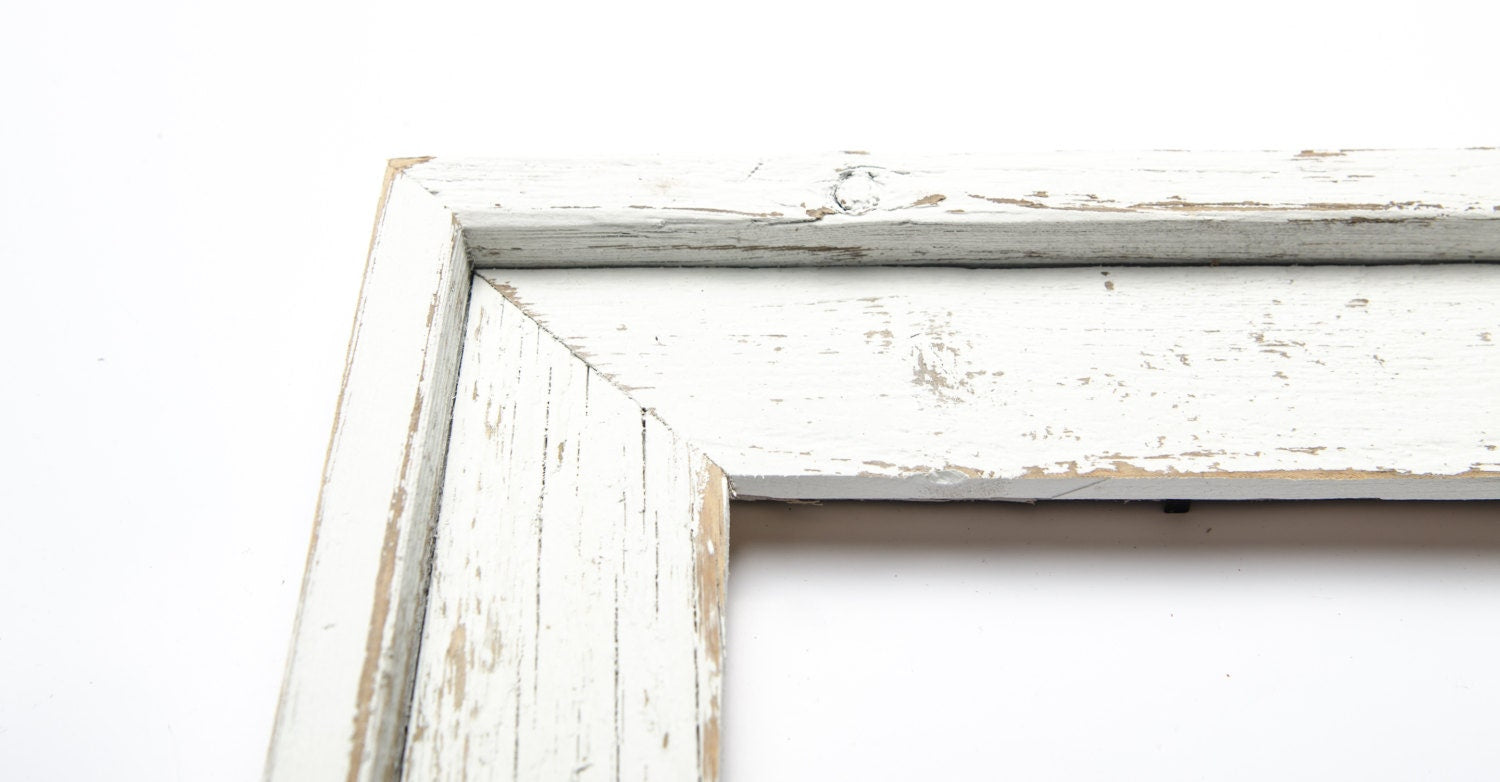 16x20 Wide Stacked Rustic Barnwood White Stacked Distressed Rustic ...