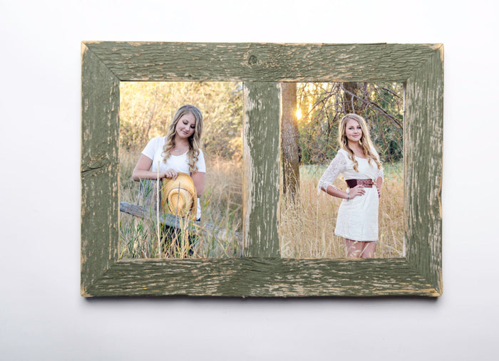 2 hole 5x7 Barnwood Collage Frame