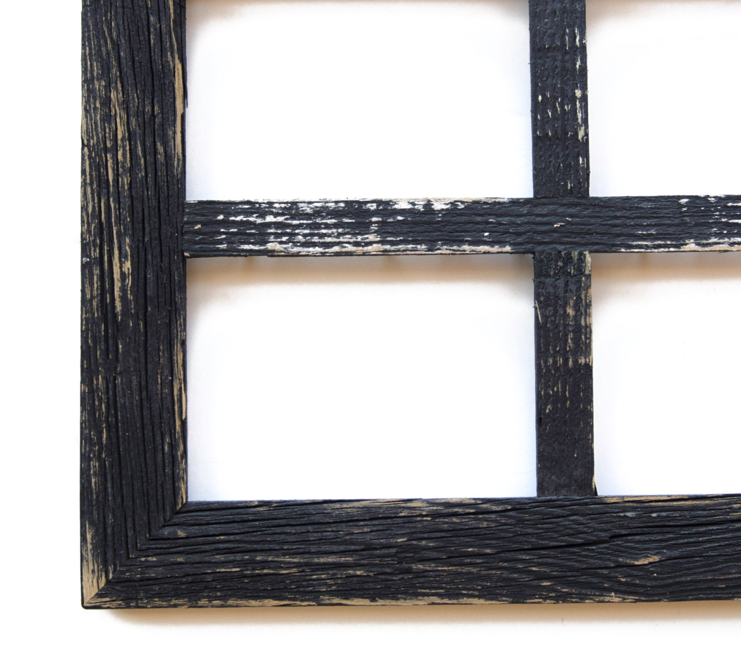 2 4 hole 8x10 barn window collage picture frame black distressed frame - Window Collage Frame