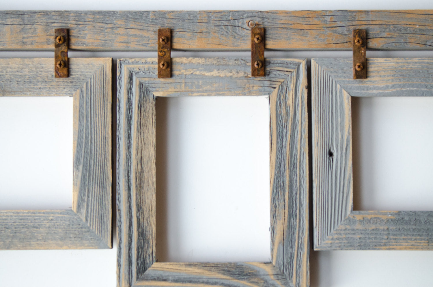 2 barnwood collage frame 3 8x10 multi opening frame rustic 2 barnwood collage frame 3 8x10 multi opening frame rustic picture frames jeuxipadfo Gallery