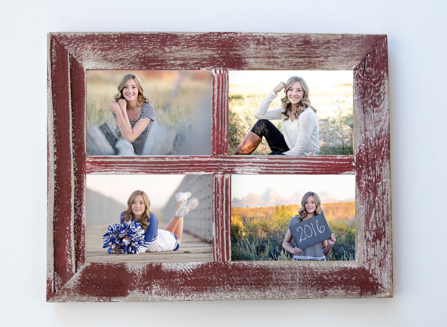5x7 red rustic picture frame collage frame window frame shabby 5x7 red rustic picture frame collage frame window frame shabby chic wall decor jeuxipadfo Images