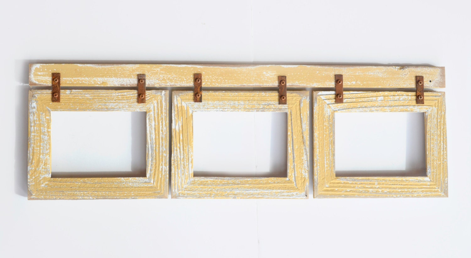 Barnwood Collage Frame 3 hole 5x7 Multi Opening Frame-Rustic Picture ...