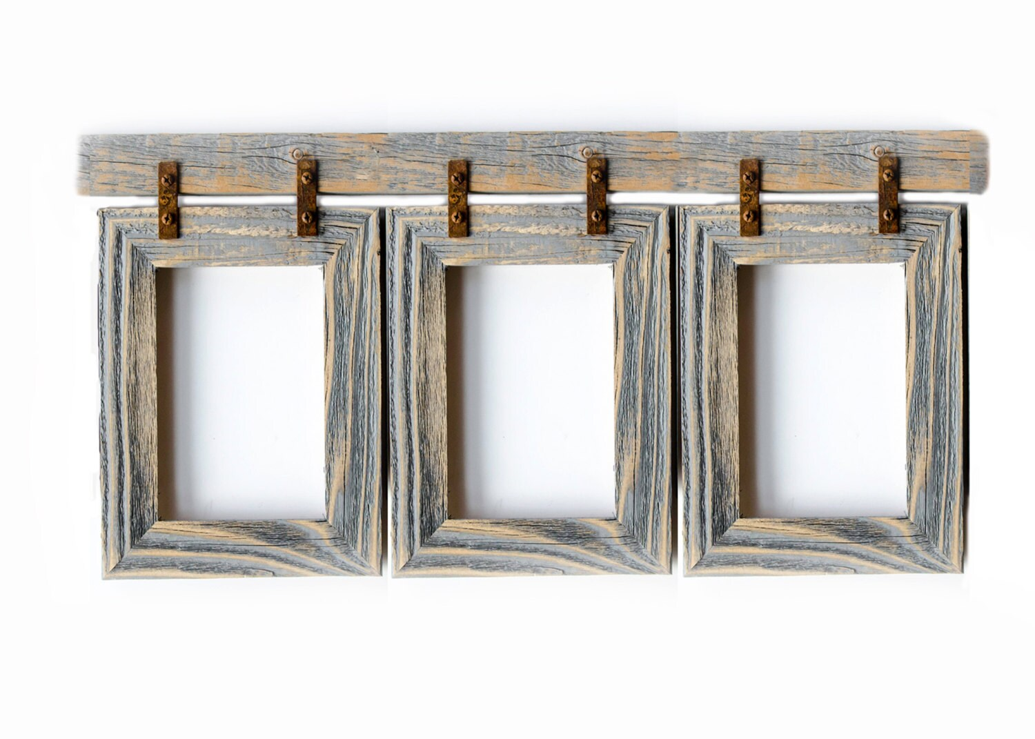 Picture Frame Collage 3 4x6 Multi Opening Frame Rustymilldecor