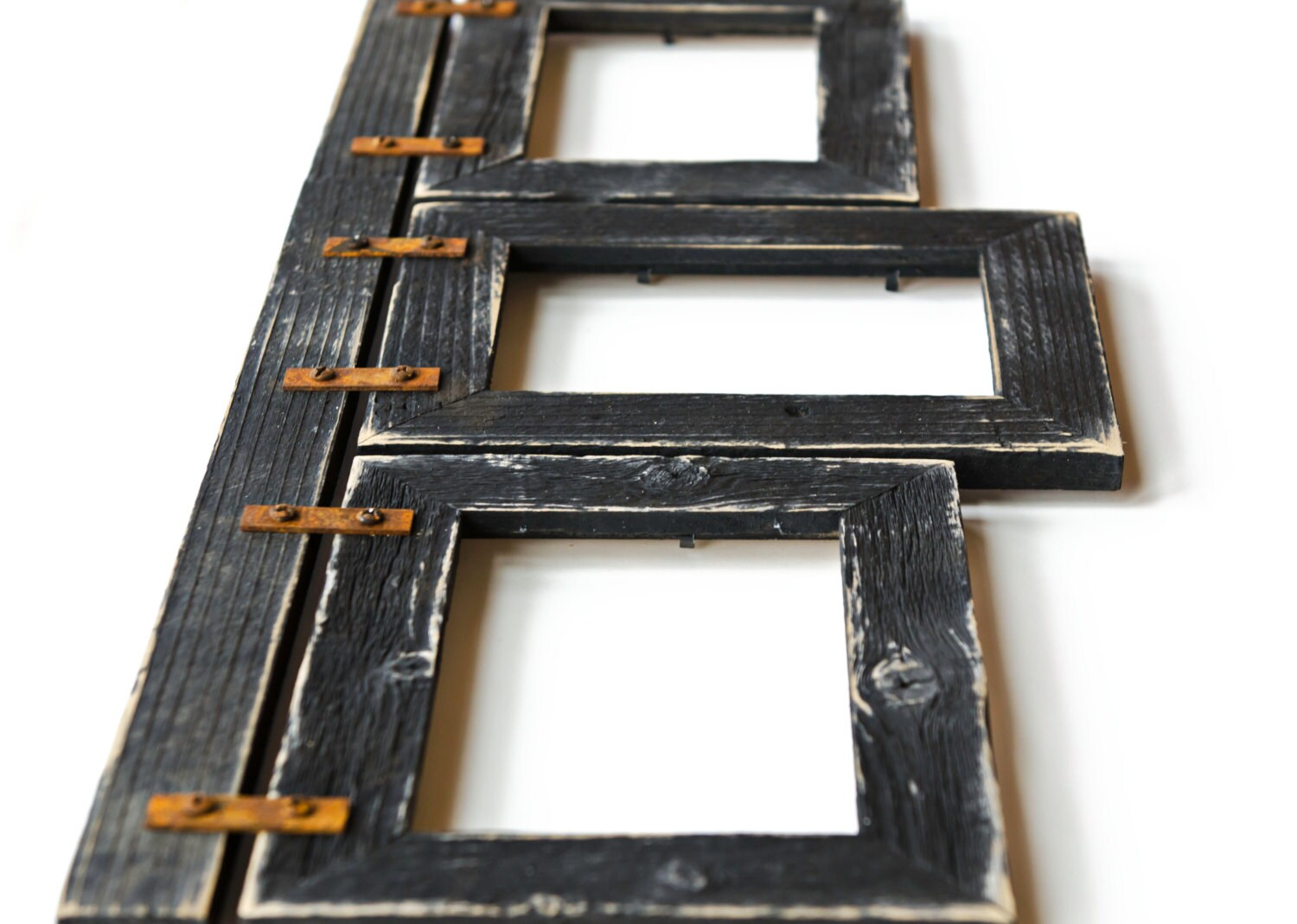 4x6 Barnwood Collage Picture Frame 3 4x6 Multi Opening Frame Rustic