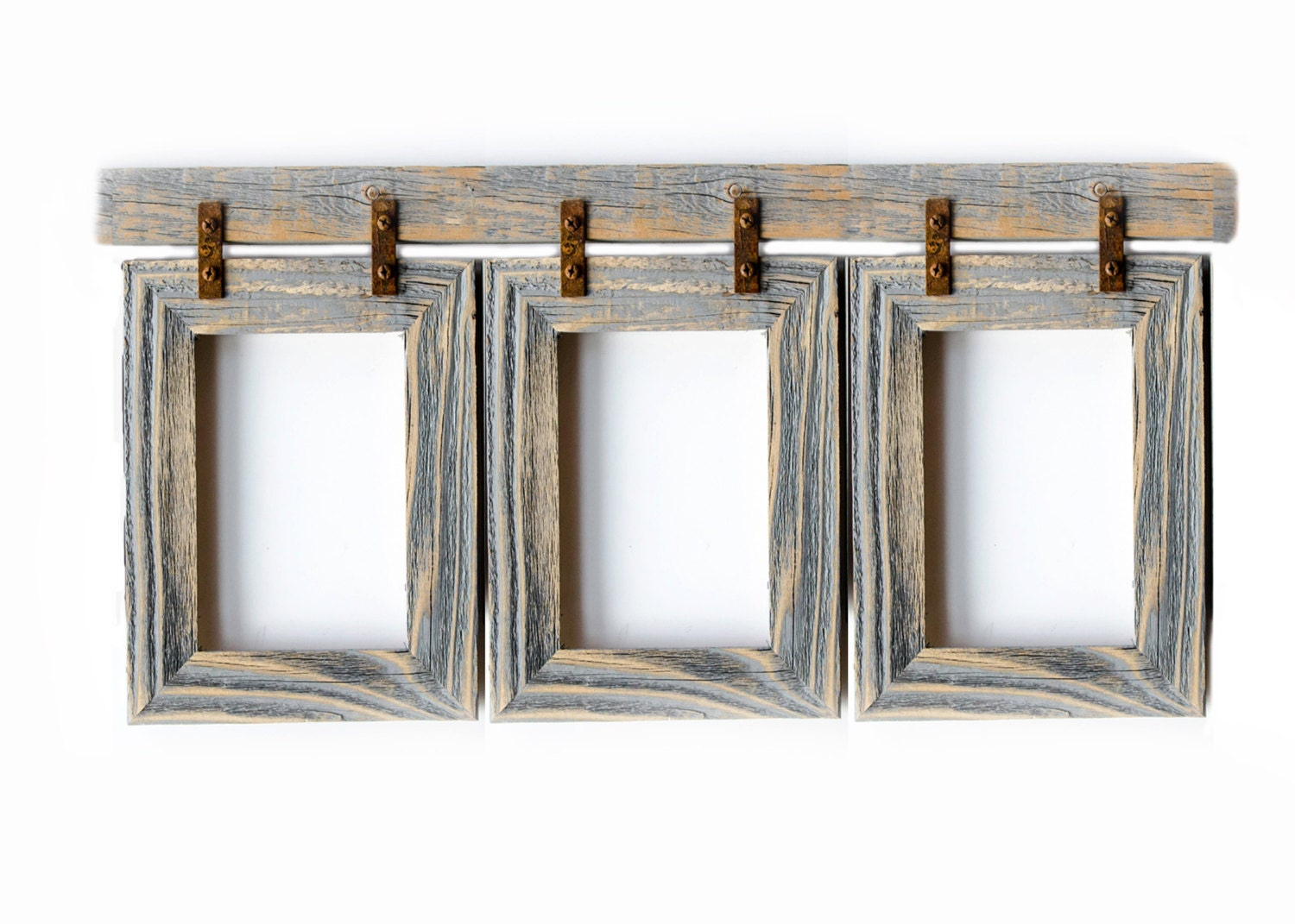 Collage Picture Frame 3) 8x10 Multi Opening Frame-Rustic Picture ...