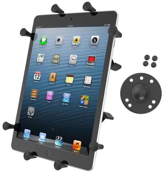 "RAM Universal X-Grip® Cradle with Round Base Adapter for 10"" Large Tablets"