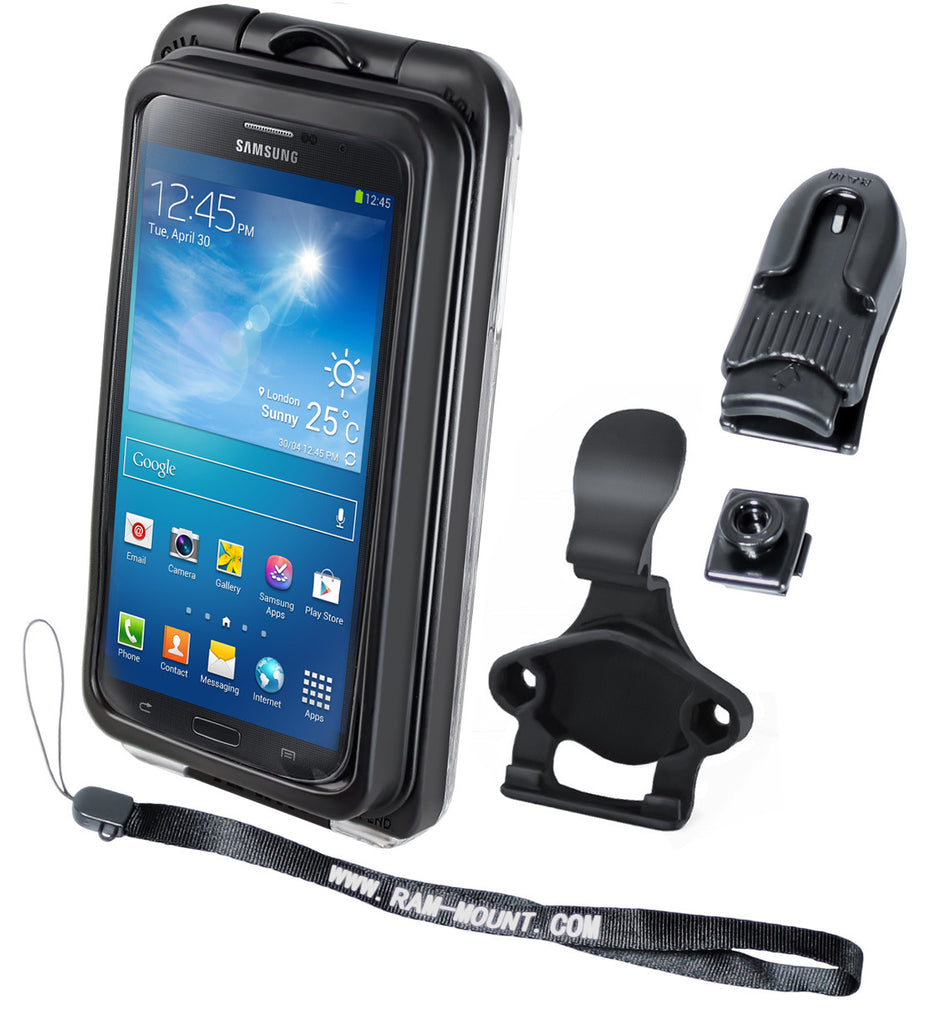 RAM AQUA BOX® Pro 20 Case, CRADLE CLIP, BELT CLIP, BELT CLIP BUTTON and LANYARD for the iPhone 5, 4 & 3 WITH OR WITHOUT CASE, SKIN OR SLEEVE