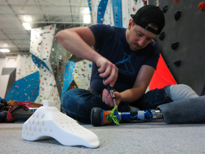Jeremy Ritchie and his Prosthetic Climbing Shoe Project