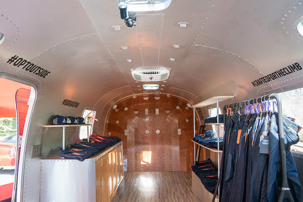 Finished Airstream showroom by Boulder Denim