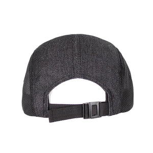 Boulder Denim Black Denim 5 Panel Hat Back
