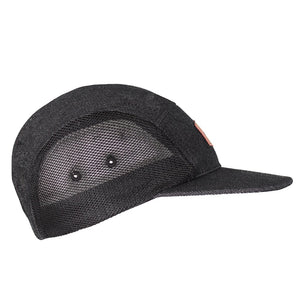 Boulder Denim Black Denim 5 Panel Hat Side
