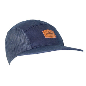 Boulder Denim Blue Denim 5 Panel Hat Angled