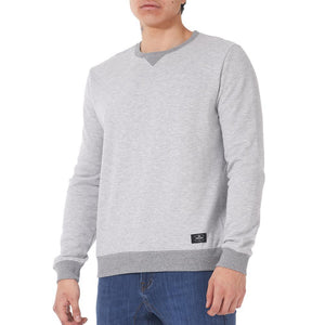 Boulder Denim Unisex Grey Mix Crew Neck Sweater Male Front