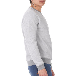 Boulder Denim Unisex Grey Mix Crew Neck Sweater Male Side