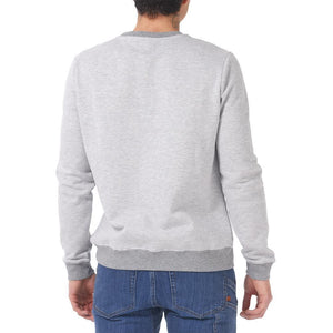 Boulder Denim Unisex Grey Mix Crew Neck Sweater Male Back