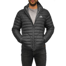 Load image into Gallery viewer, Boulder Denim Men's Puffy Jacket Front in Black