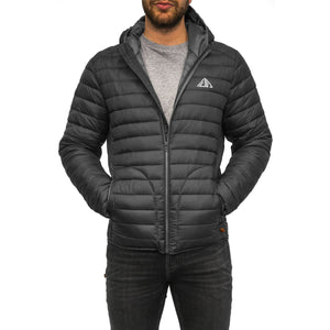 Boulder Denim Men's Puffy Jacket Front in Black