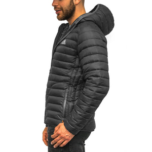 Boulder Denim Men's Puffy Jacket Side in Black