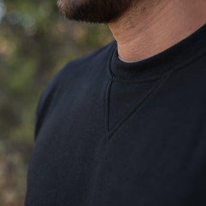 Men's Crew Neck Sweater in Black