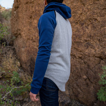 Load image into Gallery viewer, Boulder Denim Men's Hoodie in Blue and White