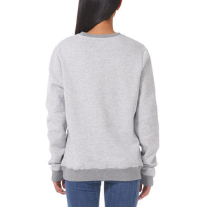 Boulder Denim Unisex Grey Mix Crew Neck Sweater Female Back