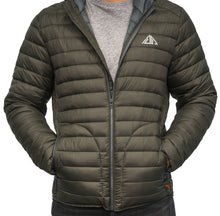 Load image into Gallery viewer, Boulder Denim Women's Puffy Jacket Front in Moss