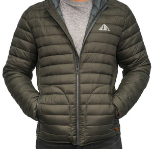 Boulder Denim Women's Puffy Jacket Front in Moss
