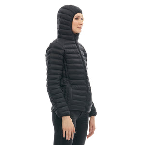 Boulder Denim Women's Puffy Jacket Side in Black