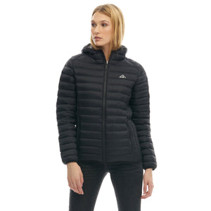 Boulder Denim Women's Puffy Jacket Front in Black