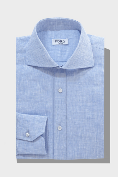 100% Linen Custom Shirt - Sorrento Linen Collection - Fordi