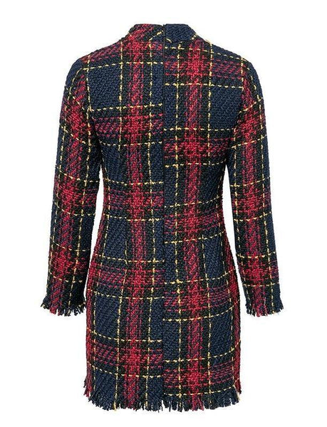 Lucia Long Sleeve Tweed Dress - Fordi