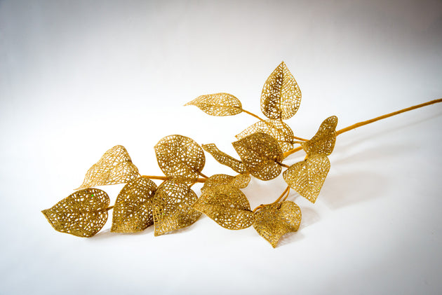 Golden Branch with Leaves