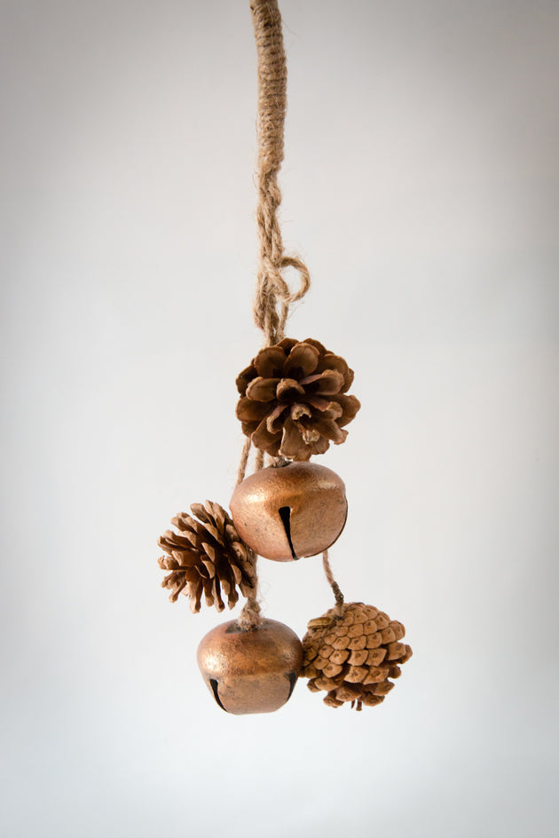 Pine Cone Bundle with Bells