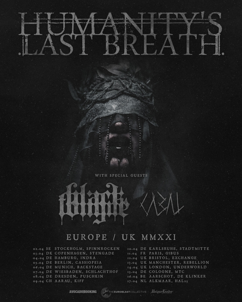 Humanity's Last Breath, Black Tongue & Cabal on tour