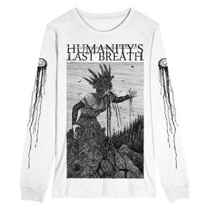 'Earthwitch' White Long Sleeve T-Shirt