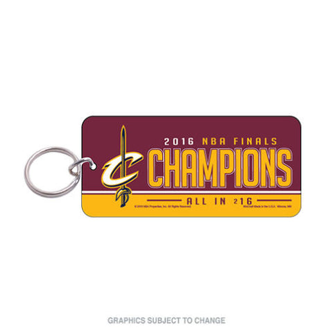 2016 NBA Finals Champions Cleveland Cavaliers Acrylic Key Ring Glossy Key Chain- Free Shipping