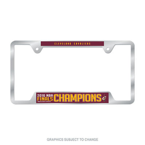 2016 NBA Finals Champions Cleveland Cavaliers Metal License Plate Frame - Free Shipping