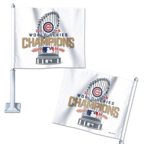2016 MLB Chicago Cubs World Series Champions Car Flag - Free Shipping