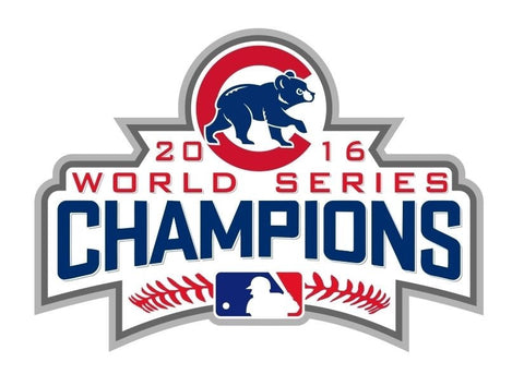 2016 MLB Chicago Cubs World Series Champions Car Home Office Shape Cut Decal Sticker - Free Shipping