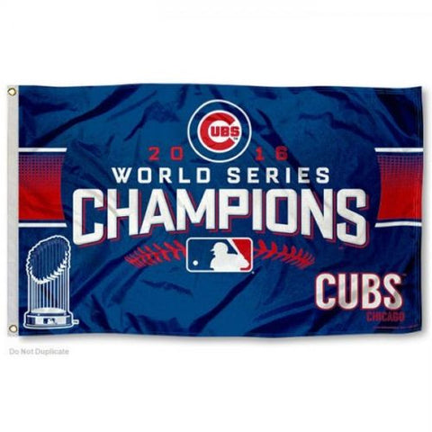 2016 MLB Chicago Cubs World Series Champions 3x5 Team Flag - Free Shipping