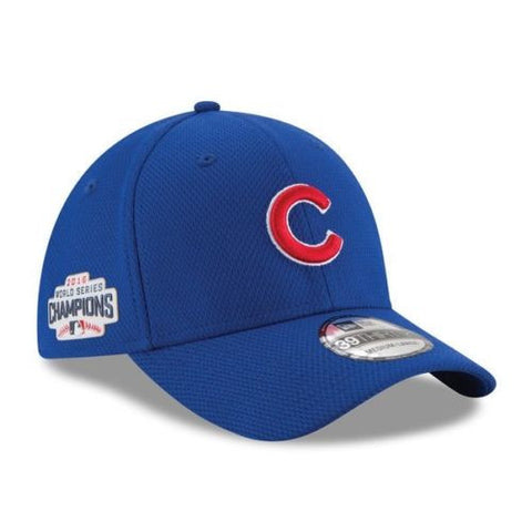 Chicago Cubs New Era 2016 World Series Champions Flex Fit Hat 3930 Cap Champs - Free Shipping