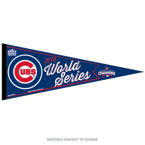 2016 MLB National League Champions Chicago Cubs World Series Classic Pennant 12 x 30 - Free Shipping